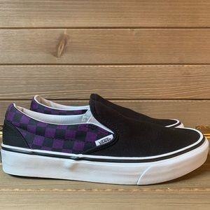 Vans Slip-Ons Black/Purple Checkers